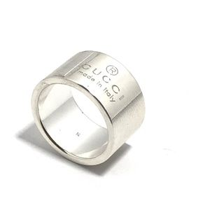 Gucci sterling silver band ring
